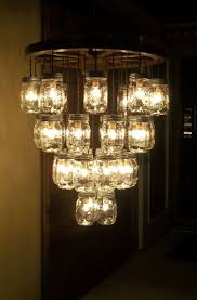 mason jar lighting fixture. wooden wagon wheel 22 mason jar lighting fixture u