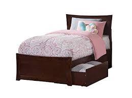 Atlantic Furniture AR9016114 Metro Platform Bed with 2 Urban Bed Drawers, Twin XL, Walnut