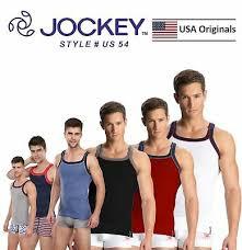 Mens Jockey Sports Tank Tops Square Neck Vest Cotton Style