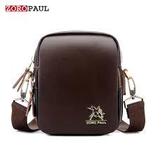 Man Cross Body Bag Designer Zoropaul New Mini Man Shoulder Bag Fashion Leather Mens