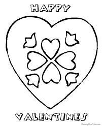 Small Picture Valentine Day hearts coloring pages 022