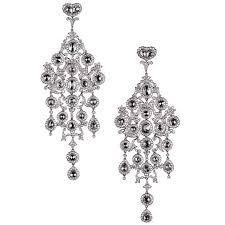 large diamond platinum chandelier earrings