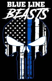 thin blue line punisher wallpaper