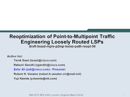 1 Reoptimization of Point-to-Multipoint Traffic Engineering Loosely ...
