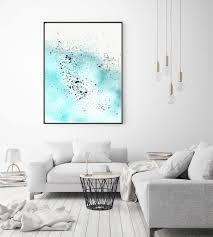watercolor abstract art print cyan ocean wall art minimal decor light blue simple painting art splash on wall art printing ideas with 35 new coastal wall art decor wall decor ideas decorations