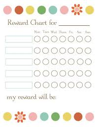 weekly reward chart printable here are some brilliant free printable reward charts that we have