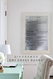 How To Make A Magnetic Memo Board Simple DIY Framed Dry Erase Board Love Grows Wild