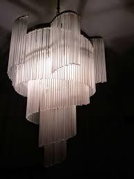 vintage milk glass spiral chandelier recently reburbished
