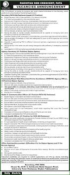 secretary fata hq agency secretary agency officer media secretary fata hq agency secretary agency officer media communication officer branch health officer and office assistant accountant jobs in red