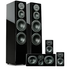 speakers system. piano gloss black speakers system 2