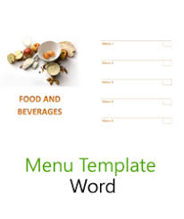 Word Templates Menu Free Menu Templates Blank Restaurant Samples For Word