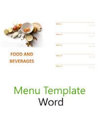 free word menu template free menu templates blank restaurant samples for word