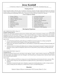 free training director resume example training resume samples
