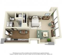 Small One Bedroom Apartment Floor Plans One Bedroom Apartment Plans And Designs Studio Apartment Plans