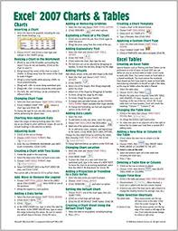 All Charts Window Excel Microsoft Excel 2007 Charts Tables Quick Reference Guide