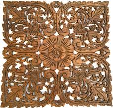 Square Metal Wall Decor Oriental Home Decorlarge Square Floral Wood Wall Hangingrustic