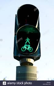 Green Light Cycle Cycle And Pedestrian Traffic Light At Green For Go Or
