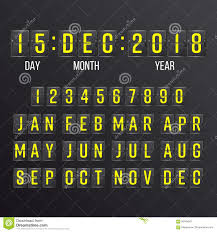 Calendar Countdown Days Flip Countdown Timer Vector Black Flip Scoreboard Digital Calendar