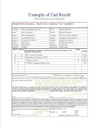 Example For Bill Of Lading Doc House Document Title Template