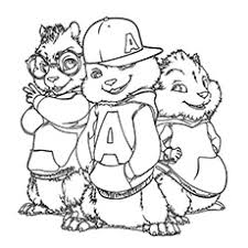 alvin and the chipmunks coloring pages to print