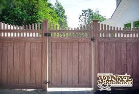 illusions vinyl fence walnut wood grain dealers nj n10