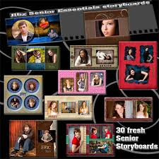 Senior School Storyboard Templates, Senior Photography Composites
