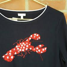 Talbots Plus Size Chart Talbots Woman Navy Lobster Nautical Sweater Xl Nwt