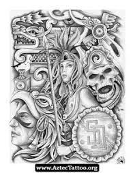 Aztec Tattoo Patterns Enchanting 48 Best Tattoo Images On Pinterest Drawings Chicano And Chicano Art