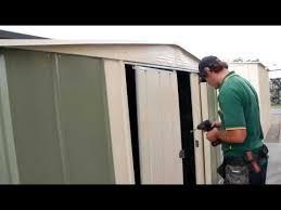 sliding shed door