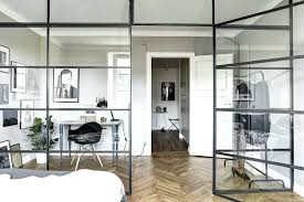 glass partition walls for home room dividers and partition walls creating