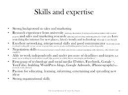 Marketing Skills Resume Extraordinary Sales And Marketing Skills For Resume A Good Owner Manual Example