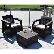 corfu balcony set cof balcony set dark brown in keter latin style furniture outdoor funiture veranda the garden exterior garden chair set