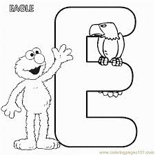 Small Picture Abc Letter E Eagle Sesame Street Elmo Coloring Pages 7 Com