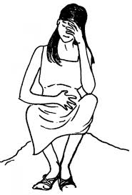 Resultado de imagen de dibujo mujer triste