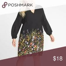 Old Navy Plus Size Size Chart Old Navy Georgette Plus Swing Dress Size 4x Black Floral New