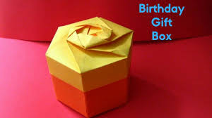 how to make unique gift box with paper birthday gift ideas