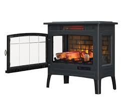 duraflame infrared quartz fireplace stove with 3d flame effect black com