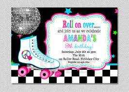 top printable roller skating birthday party invitations printable roller skating birthday party invitations as catchy ideas for unique birthday invitation design 14920163