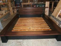 homemade bed frame ideas king platform bed frame plans easy diy bed frame ideas