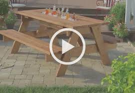 picnic table with a built in cooler