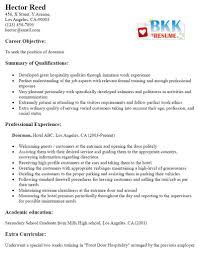 Doorman Resume Sample