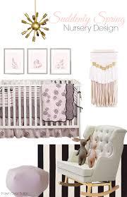 a calming yet spring time garden feel is the inspiration for this nursery design surrounding balboa baby s grey dahlia bedding set