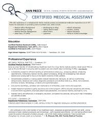 Medical Assistant Sample Resumes Certified Medical Assistant Resume Samples Enderrealtyparkco 4