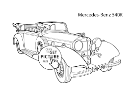 Small Picture Super car Mercedes Benz 540K coloring page cool car printable