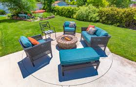 patio furniture with fire pit layouts