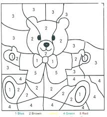 number coloring sheets for preschoolers color