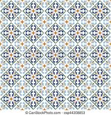 Pattern In Spanish Cool Moroccan blue tiles print or spanish ceramic surface vector pattern