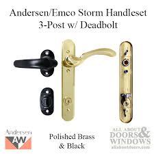 andersen emco ke 3 post storm door hardware w deadbolt for 1 1 2 inch doors