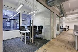 modern office open space interior. new york usa january 18 2015 modern open office space with private glassed in rooms along the windows stock photo offset interior