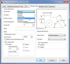 Setting Up The Primary Unit Style In Autocad Autocad Autodesk